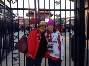 Sarah at the Winter Classic, January 1, 2015